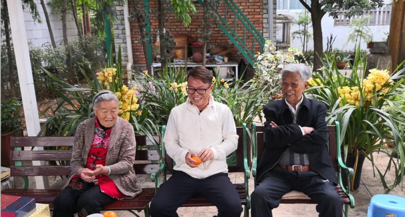 褚时健、马静芬夫妇与集团公司董事长到访润鑫堂图片